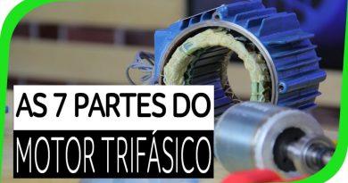 Partes do Motor Elétrico Trifásico
