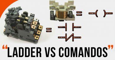 Diferença entres as lógicas de Comandos e Ladder