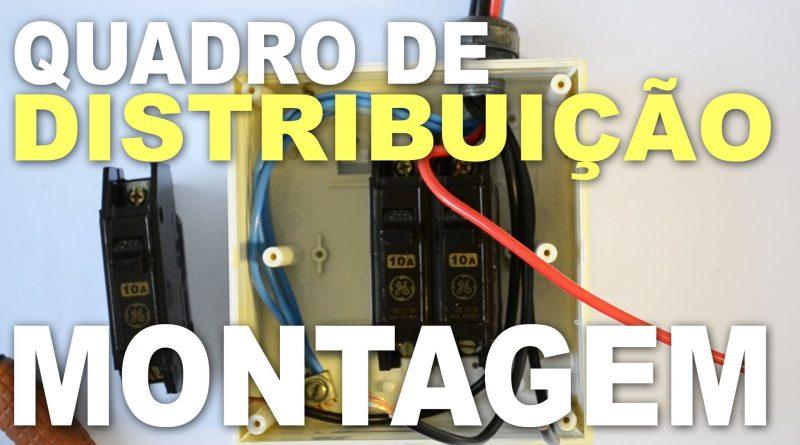 Quadro de distribuição de circuitos com instalar