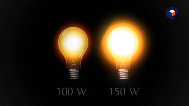 Uma lampada brilha mais que outra devido a sua capacidade de realizar trabalho